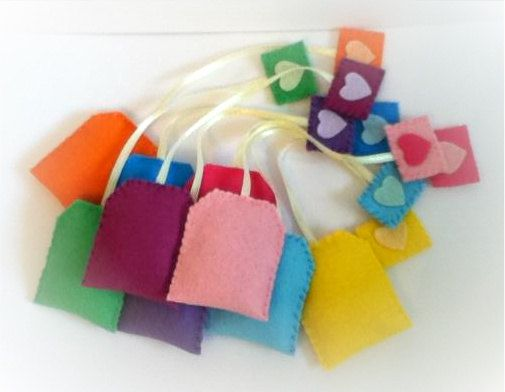 gorgeous yummy felt food TEABAGS set by nicolaluke on Etsy, $10.00 great fun x