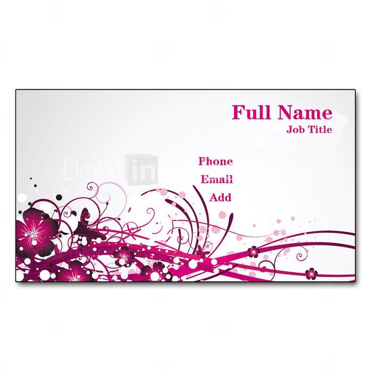 200pcs personalizzata 2 lati Stampato pellicola opaca Wintersweeet Motivo Business Card del 2015 a €7.69