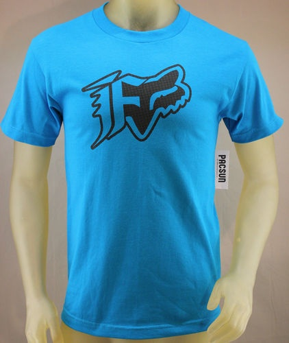 Fox Racing blue T-shirt with black logo