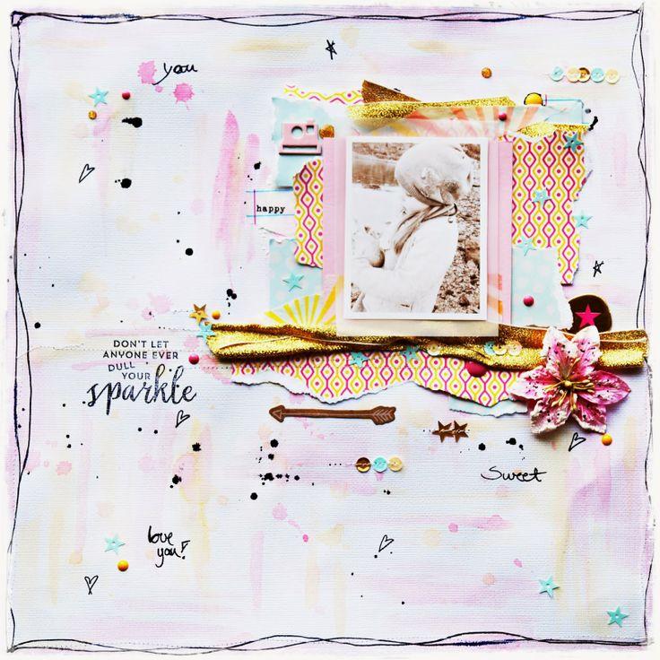 Ragnhild Kleiven - Hobby Kroken Min, Studio Calico kit, Sugar Rush, Layout.