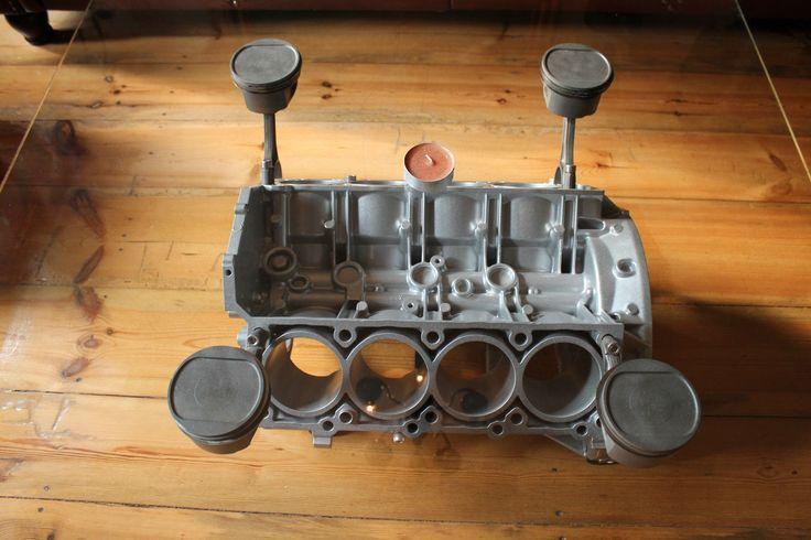 TISCH Motor V8,Glastisch Deko,Mercedes,Motorblock,Glastisch,pulverbeschichtet | eBay