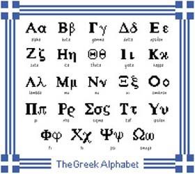 I would love to make a Greek alphabet cross-stitch sampler. An idea of how to cross-stitch Greek letters