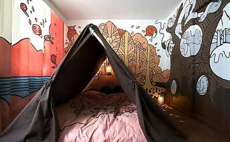 Trees: Kids Bedrooms, Hotelfox, Kids Forts, Murals, Tent, Indoor Camps, Places, Hotels Foxes, Kids Rooms