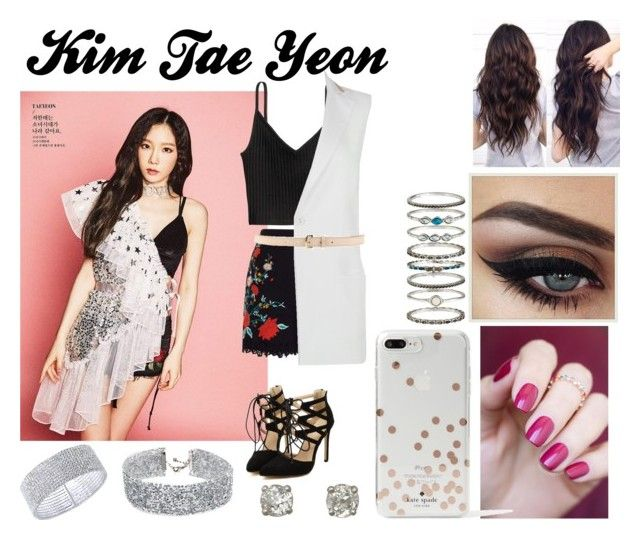 """""""Kim Tae Yeon"""" by ohmy-fangirl ❤ liked on Polyvore featuring Nuevo, H&M, Miss Selfridge, Patrizia Pepe, Dsquared2, Kate Spade, DANNIJO, Accessorize and Anne Klein"""
