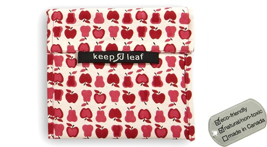 Keep Leaf Reusable Velcro Food Pouches - large