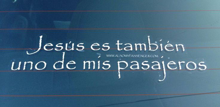 $5.00 Etiquetas en las ventanas del coche religiosas. Mostrar al mundo que su acompañante favorito es con nuestra etiqueta. Comparte con tu familia, amigos y congregación.