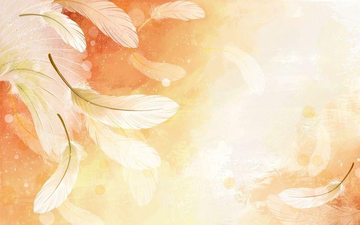 Pióra, Pomarańczowe, Tło- Piękne tapety na Twój pulpit.