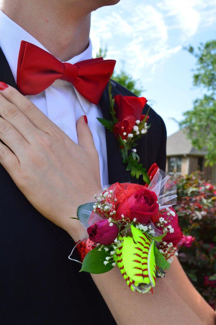 Hannah's Softball Rose Corsage For Senior Prom