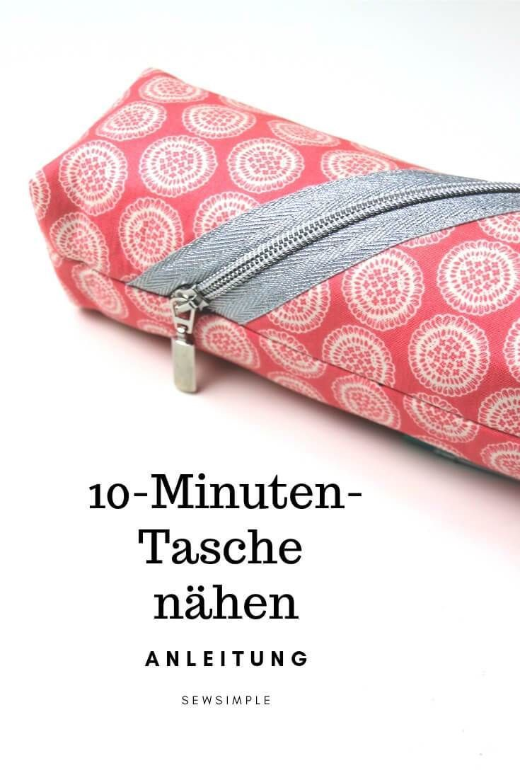 Eine Tasche nähen in 10 Minuten – das geht? Na klar! Sie wird mit aufgesetzte…