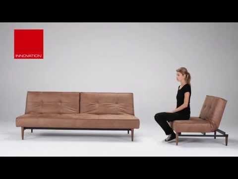 Splitback Sofa Bed - Wood Leg - Innovation Living