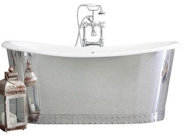 The Wokingham Cast Iron French Bateau Tub Package From Penhaglion    Traditional   Bathtubs   Penhaglion Inc.