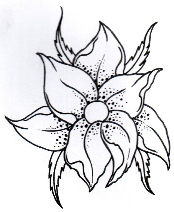 17 best ideas about Flower Outline Tattoo on Pinterest ...