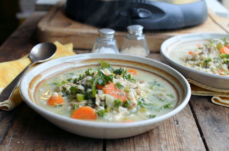 110 calories a bowl: 5:2 Diet Winter Meal Plan Ideas: Low-Calorie Turkey & Kale Scotch Broth Recipe