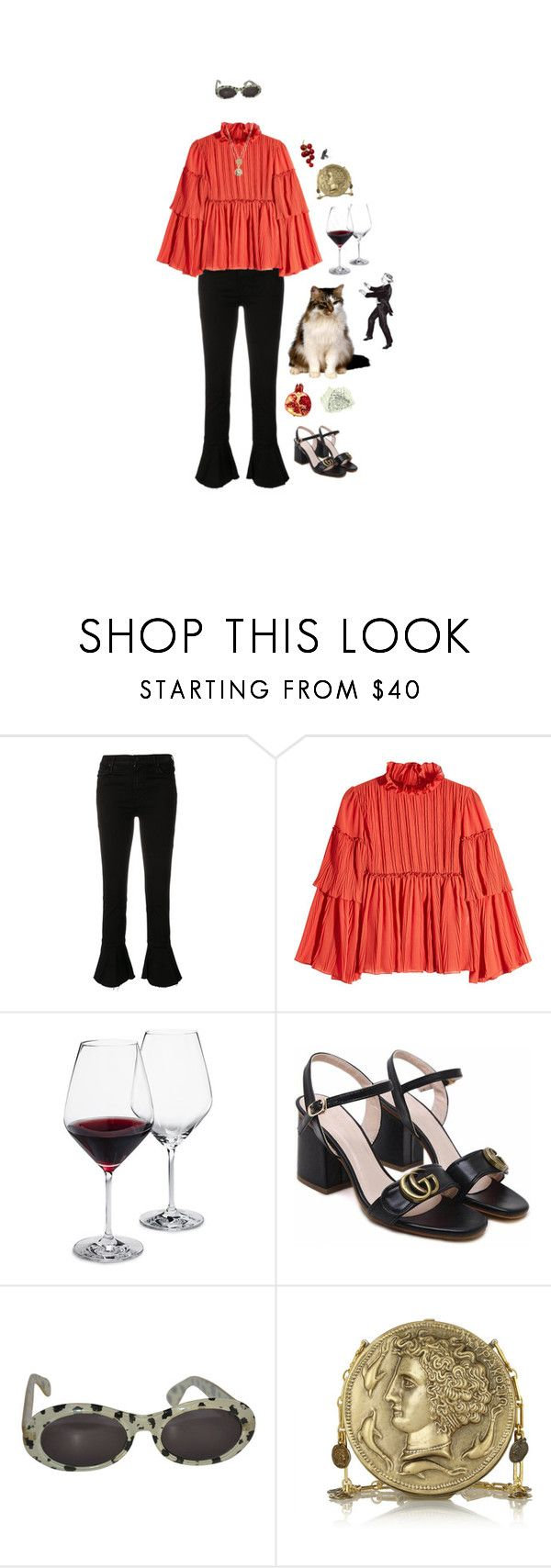 """""""I Swallow All Tests"""" by ana-valery22 ❤ liked on Polyvore featuring Mother, See by Chloé, Schott Zwiesel, WithChic and Dolce&Gabbana"""