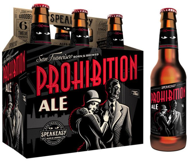 Prohibition Ale. Love the special effects on this #beer #packaging PD