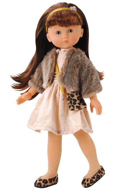 Part of the Corolle Paris collection, Chloe is fashionably dressed for a visit to the Palais Royal. She has an all vinyl body, moving eyes and long brown rooted hair that can be combed and styled, even shampooed #corolle #doll #christmastoys