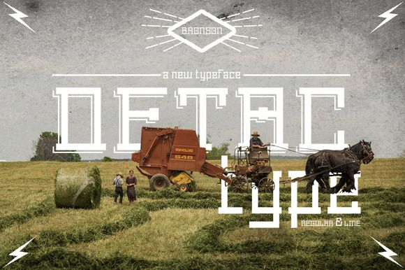 Detac Font by MAGOO STUDIO on Creative Market