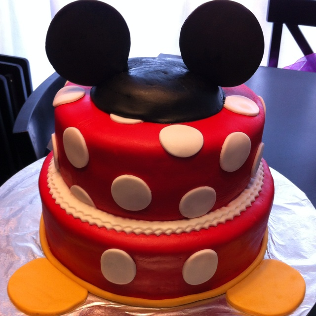 Mickey & Minnie mouse cake: Character Cakes, Cakes Creations, Cakes Ideas, Mickey Mouse Cakes, Minnie Mouse Cakes