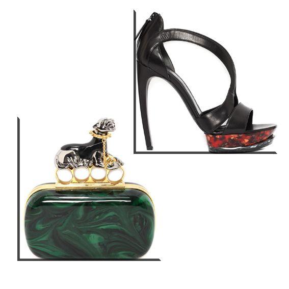 """Chic plexiglass"" on Sandra Style Alexander McQueen  http://sandrafashiondiary.es"