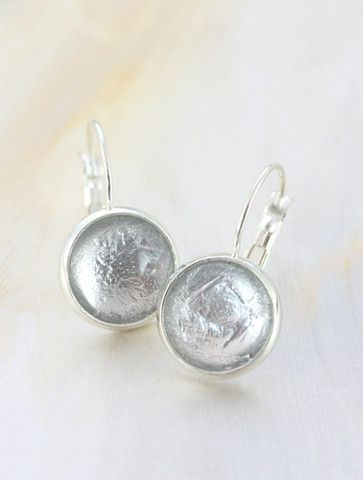 Silver Foil Earrings by Cloud Nine Creative  www.cloudninecreative.co.nz