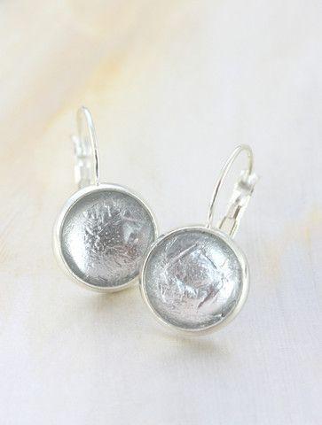 Silver Foil Earrings by Cloud Nine Creative  www.cloudninecreative.co.nz