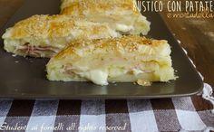 rustico con patate mortadella e fontina o mozzarella ricetta sfoglia