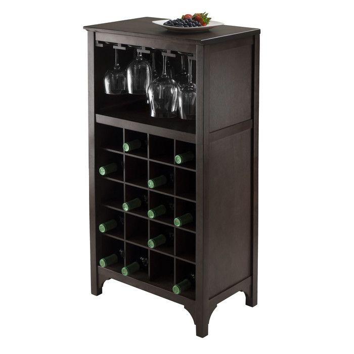 Winsome Ancona Modular 20 Bottle Tabletop Wine Cabinet & Reviews   Wayfair