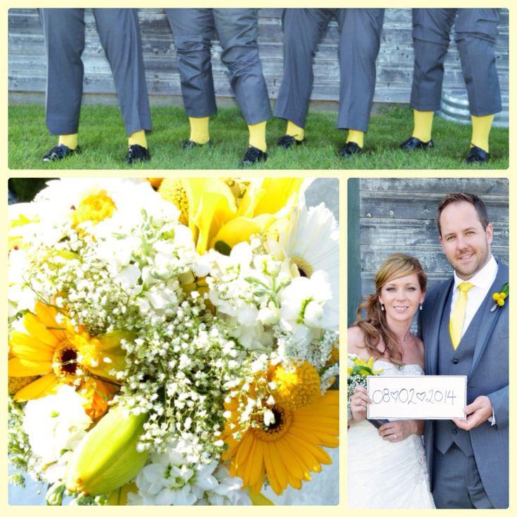 Yellow and Grey wedding St. Ann Ranch Trochu.