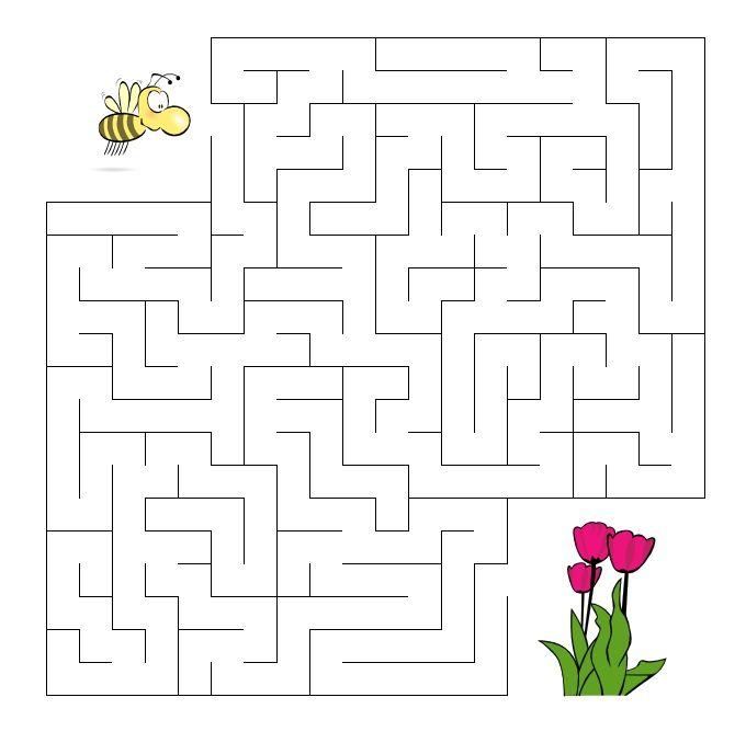 De bij zoekt de bloem