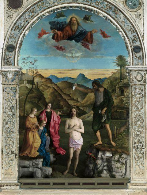 Giovanni Bellini, Battesimo di Cristo, Vicenza, Chiesa di Santa Corona