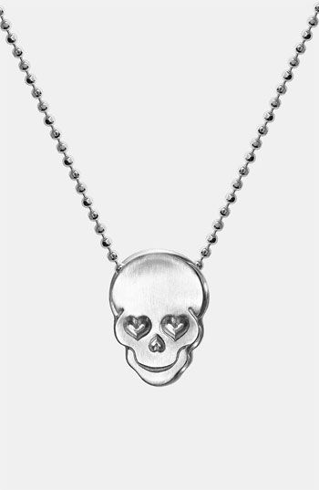 Alex Woo 'Little Rock Star' Skull Pendant Necklace available at #Nordstrom》♡♡♡Cute!!!