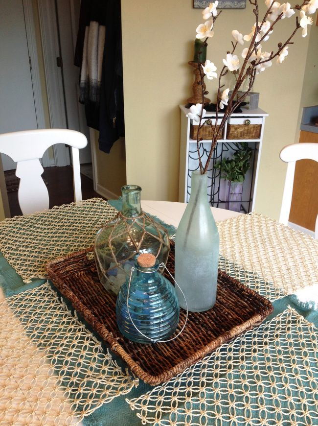 Spring Kitchen Table Centerpiece