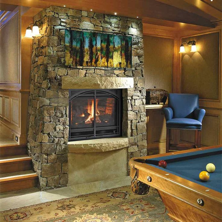 Gas Fireplaces, Basements And