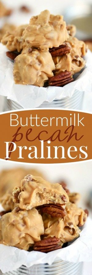 Old fashioned candy is the best! I love surprising friends and family with homemade candy during the holidays and these Buttermilk Pecan Pralines is one of my favorites! Ultra smooth and creamy and oh-so decadent, it's everyone's favorite treat!
