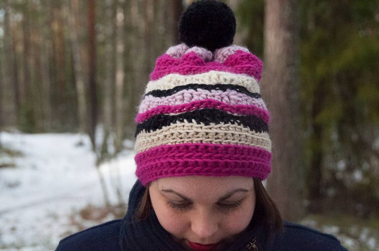 Nix Hat Crochet Pattern ★ Crochet pattern for the Nix Hat, a striped winter hat/beanie. ★ Easy to modify if you want to change the size. ★ Size: 12-18 months, 18-24 months, 2-5 years, Child, Teen, Adult Woman, Adult Man ★ Skill level: EASY ★ Language: English / US crochet terms. Nix Hat Crochet Pattern The Nix hat crochet pattern is a pattern for a striped warm winter hat. This beanie pattern has a huge size range from 12 months to adult size. Put this to use & keep yours