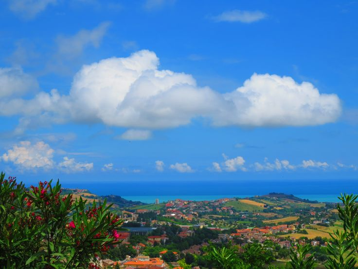 Fermo, Marche, Italy - View from the Duomo, countryside,sea and sky- by Gianni Del Bufalo