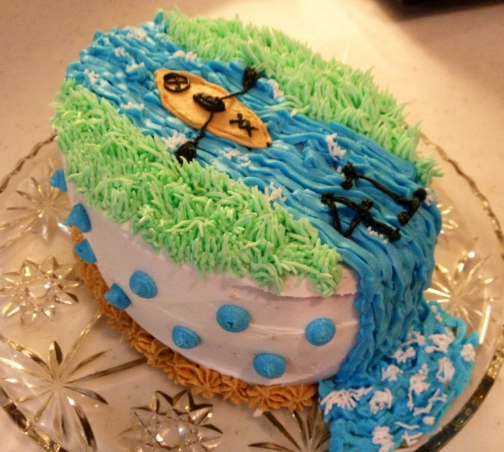Combining two great things - kayaking and cake!