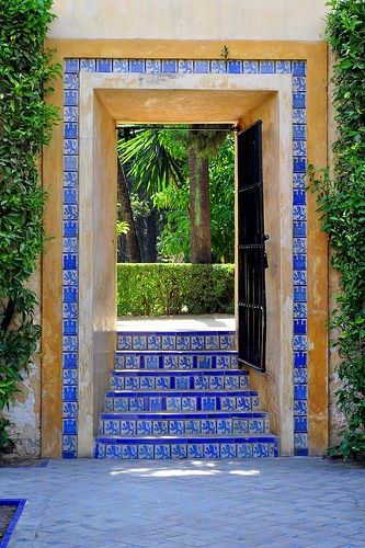 Spain Travel Inspiration - Seville, Spain.Behind this gate are the fabulous gardens of the Alcazar Palace