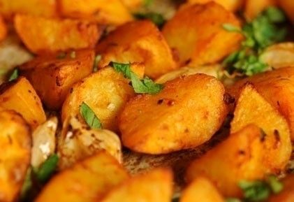 Sütőben sült krumpli 2. (paradicsomos)