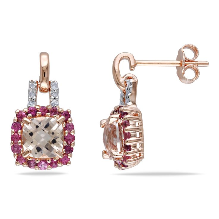 Hot new product added -  Sophia B Pink Plated Silver Ear Pin Earrings with Morganite, Pink Tourmaline and Diamonds - http://ponderosa.co/b1001/sophia-b-pink-plated-silver-ear-pin-earrings-with-morganite-pink-tourmaline-and-diamonds/