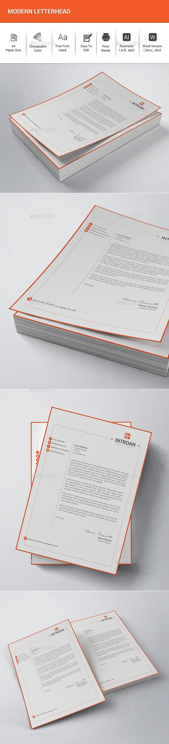 modern letterhead stationery print templates download here https