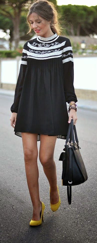 Daily New Fashion : Black Maytina Dress