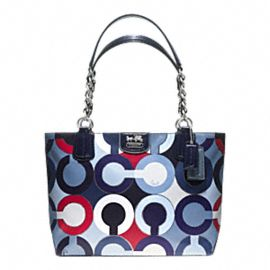 Coach - Madison Graphic Op Art Metallic Tote. $278