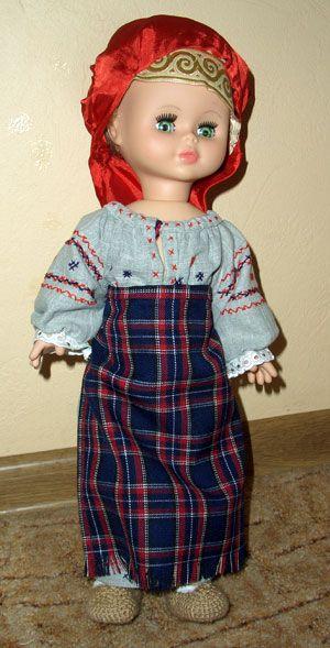 folk costume, toy, doll, russian costume, народный костюм