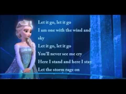 Idina Menzel - Let It Go Official Lyrics Video (Elsa)