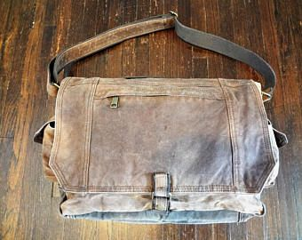 Messenger Bag, Laptop Bag, Shoulder Bag, Crossbody Bag, Cross Body Bag, Waxed Canvas Messenger Bag, Waxed Canvas Laptop Bag, Book Bag