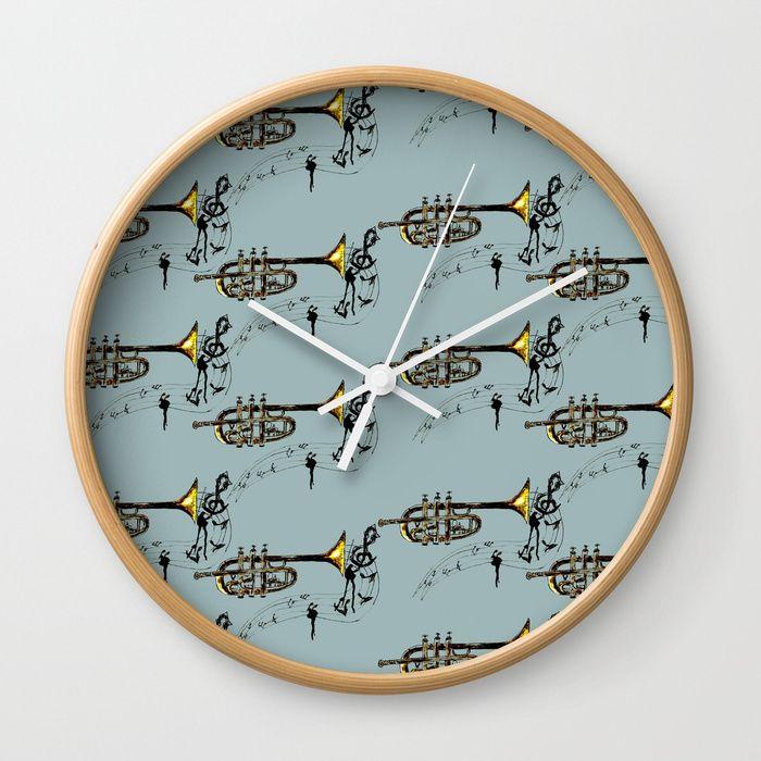 Trumpet Simple Sketch Wall Clock