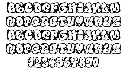 Graffiti Fonts | Graffiti Buble Fonts Letters Design More