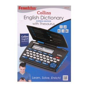 From 13.45:Franklin Dmq221 Collins English Dictionary With Thesaurus