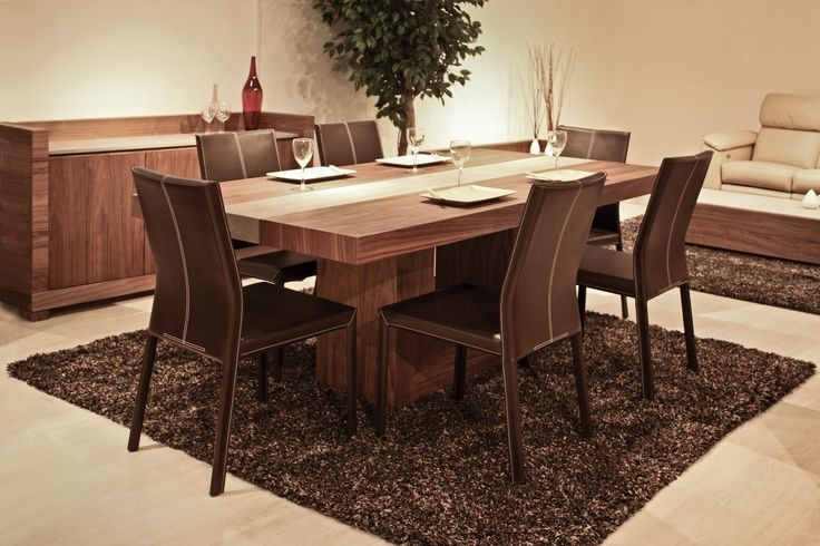 Tao walnut dining table frt tao 388 dt wal furniture for Stone top dining tables perth